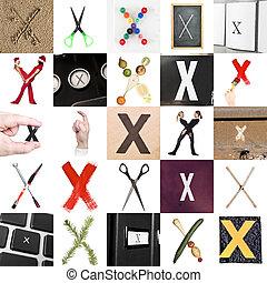 Collage de la letra X