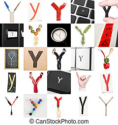 Collage de la letra Y