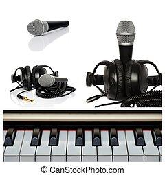 Collage de micrófono.