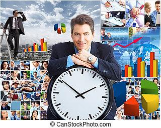 Collage de negocios.