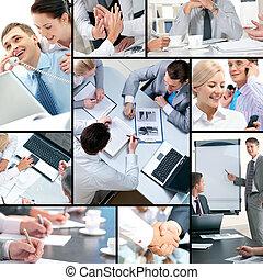 Collage de negocios