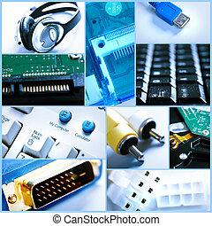 Collage de tecnología.