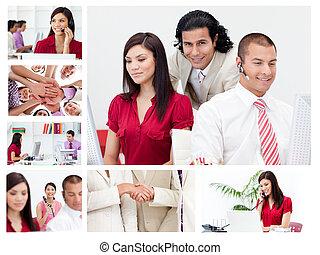 Collage de trabajadores