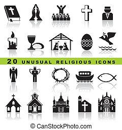Coloca iconos cristianos