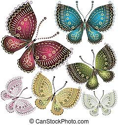 Colocar mariposa de fantasía