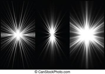 Colocar un fondo de iluminación blanco y negro. Vector