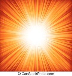 color, 8, naranja, burst., -, eps, diseño, rojo