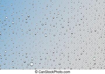 color, agua, texture., effect., drops., condensación, o, realista, gotitas, transparente, mojado, rocío, goteos, agua, ventana., gradiente, vector, lluvia, húmedo, vidrio., fondo., ducha, superficie