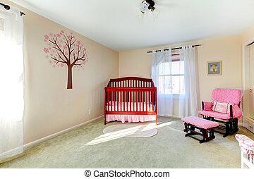 color, bebé, neutral, guardería infantil, habitación