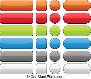 Color botones en blanco.