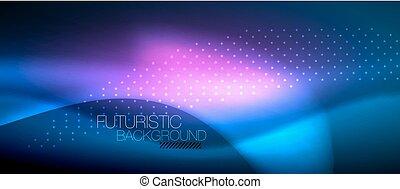 Color brillante y elegante ola de neón