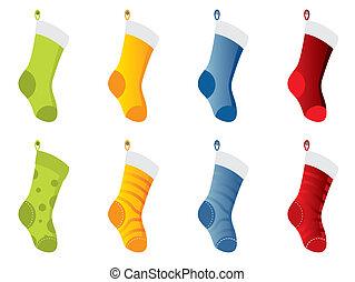 color, calcetines, colección