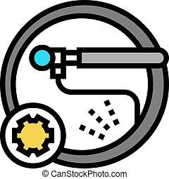 color, chambre, plano, icono, vector, ilustración, rueda