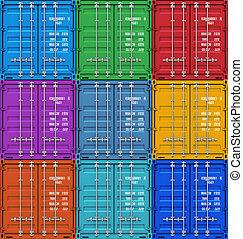 Color contenedores de carga