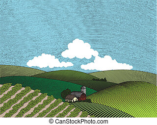 Color de la granja rural