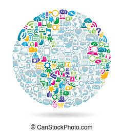 Color de los medios sociales