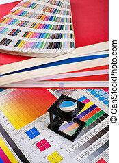 color, dirección, conjunto