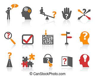color, empresa / negocio, naranja, serie, resoluciónde problemas, iconos