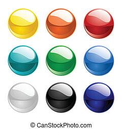 color, esferas, vector
