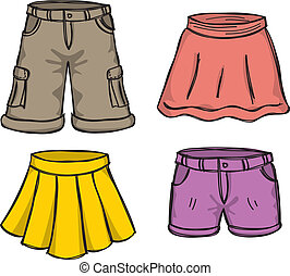 color, faldas, pantalones