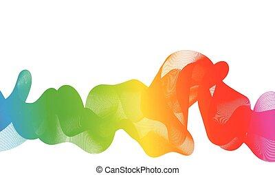 color, flujo, onda, resumen