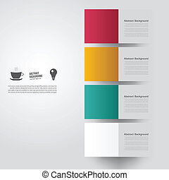 color, fondo., resumen, vector, cuadrado