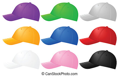 Color gorras de béisbol