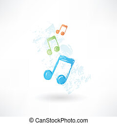 Color music icono grunge.