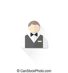 color, personal, macho, ilustración, servicio, icono