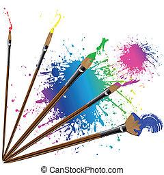 Color pincel con salpicaduras