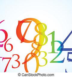 color, resumen, número, plano de fondo