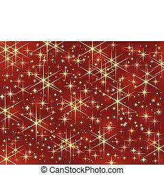 Color rojo oscuro con brillantes y brillantes estrellas.