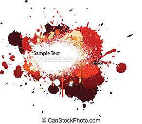 color, salpicadura, tono, rojo
