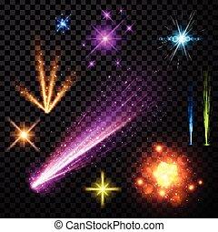 color, set., fuego artificial, festivo