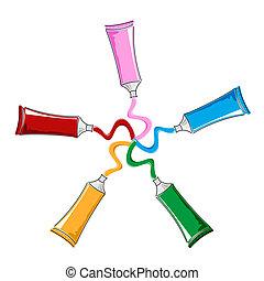 color, tubos