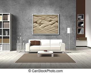 color, vida, moderno, natural, habitación
