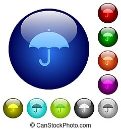color, vidrio, paraguas, botones
