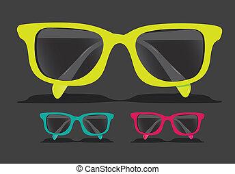 coloreado, anteojos