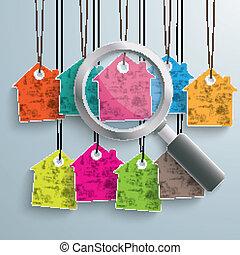coloreado, etiquetadel precio, 9, loupe