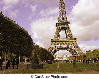 Colores de eiffel en París