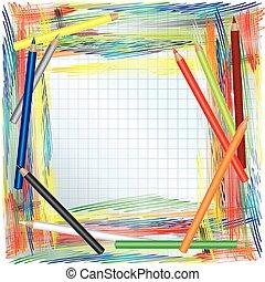 Colores de lápices de fondo