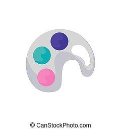 Colores de pintura palette icono aislado