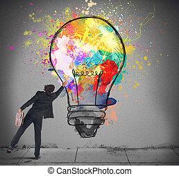 Colores de una bombilla