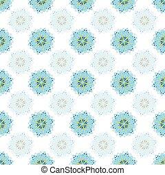 colores, formado, blanco, mandalas, patrón, amarillo, seamless, azul, vector, estrella
