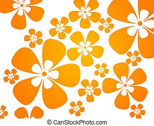 colores, tibio, flores, plano de fondo