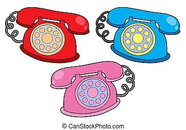 colores, vario, teléfonos
