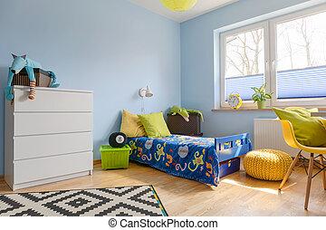 Colores vivos en un cuarto de niños
