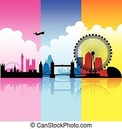Colorida ciudad de Londres