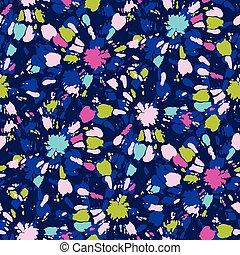 Colorida corbata-dye shibori sunburst círculos en vector indigo vector de fondo sin costura