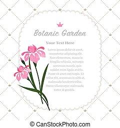Colorida textura de color acuarela vector naturaleza botánica memoriza iris rosa